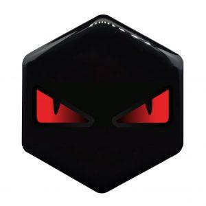 boze ogen rood Piaggio zip logo - piaggioziplogo.nl