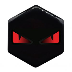 boze ogen rood piaggio zip logo