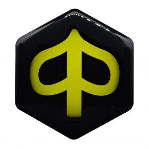 Geel Piaggio zip logo - piaggioziplogo.nl