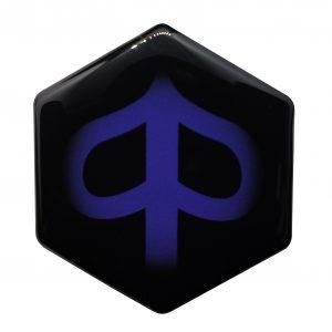 blauw piaggio zip logo custom kopen