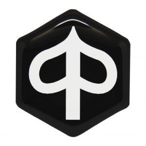Wit Piaggio zip logo - piaggioziplogo.nl
