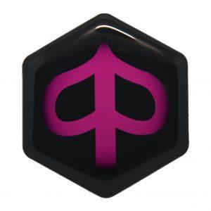 Roze Piaggio zip logo - piaggioziplogo.nl