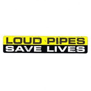 loud pipes save lives sticker uitlaat vespa piaggio zip