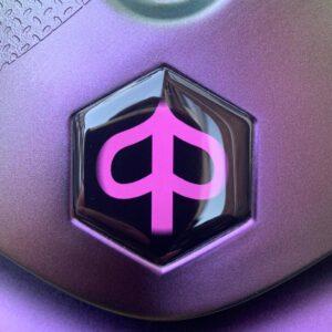 Zip logo Roze