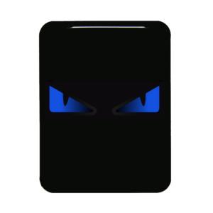 Boze ogen blauw vespa logo
