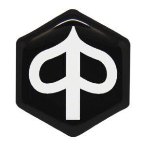 Zwart met wit Piaggio MP3 logo