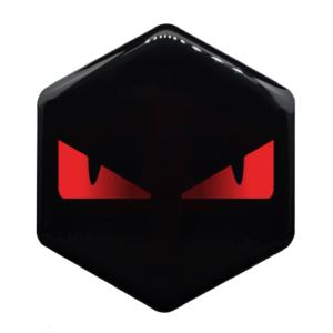 Piaggio MP3 logo boze ogen zwart met rood