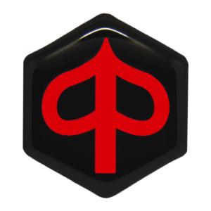 Piaggio MP3 logo zwart met rood